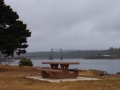 Picnic table along Coquille River at Bullards Beach State Park
