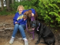 Kim & Pups on Cape Flattery Trail