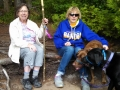 Mom, Kim & Pups on Cape Flattery Trail-MomNKimNPups