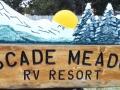 Cascade Meadows RV Resort Sign