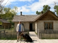 Jerry and the pups at Bannack State Park/Ghost Town