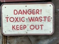 Bannack State Park/Ghost Town - Toxic Waste Warning at Mill - Mercury, cyanide, arsenic, heavy metals - Oh my!