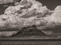 Clouds over Factory Butte