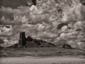 Clouds over the Lost Fortress at Factory Butte