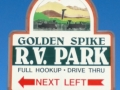 Golden Spike RV Park - Sign