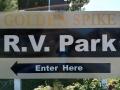 Golden Spike RV Park - Sign