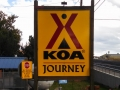 Klamath Falls KOA Journey Sign