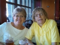 Having lunch with Kim's friend, Loraine, in Bend, Oregon