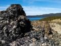 Obsidian Outcrop - Big Obsidian Flow, Lava Lands, Oregon
