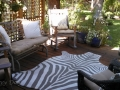 Deck at Barbie & Gary's home, Sisters, Oregon