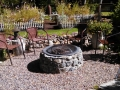 Firepit at Barbie & Gary's home, Sisters, Oregon