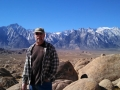 Jerry at the Alabama Hills, near Lone Pine, CA