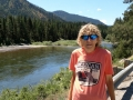 Kim at the Blackfoot River