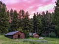 Garnet Ghost Town State Park - Cabins at Sunset