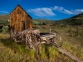 Bannack State Park/Ghost Town - Wagon & Shed