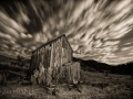 Bannack State Park/Ghost Town - Shed - black & white