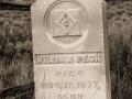 Bannack State Park/Ghost Town - Cemetery - William Peck Headstone - black & white