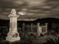 Bannack State Park/Ghost Town - Cemetery - black & white