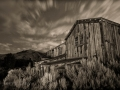Bannack State Park/Ghost Town - Mill - black & white