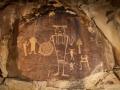 McGee Springs rock art panel by night - Dinosaur National Monument, Utah/Colorado