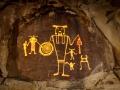 Light painted McGee Springs rock art panel - Dinosaur National Monument, Utah/Colorado