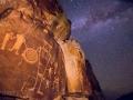 McGee Springs rock art panel and Milky Way - Dinosaur National Monument, Utah/Colorado