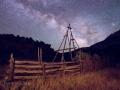 Corral and Milky Way at Chew Ranch - Dinosaur National Monument, Utah/Colorado