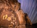 McGee Springs rock art panel and star trails - Dinosaur National Monument, Utah/Colorado