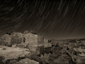Star Trails and Moonlight Over Lomaki Ruins, Wupatki National Monument