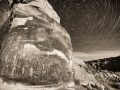 Rochester Panel Star Trails - Black and White, San Rafael Swell, Utah