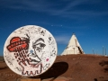 Trickster Moon and Teepee at Meteor City Trading Post - Historic Route 66 - Winslow, AZ