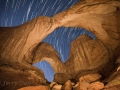 Double Arch Star Trails, Arches National Park, Utah