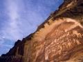 Moonlit night sky over the Great Hunt rock art panel - Nine Mile Canyon
