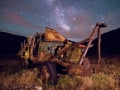 Abandoned truck and Milky Way - Harper ghost town - Nine Mile Canyon
