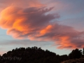 Sunset clouds at the historic Masonic Mine ruins