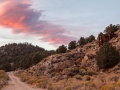 Sunset at the historic Masonic Mine ruins