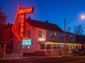 Motor Motel neon at Bridgeport, CA