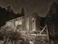 Abandoned Cabins in the Sonora Pass - black & white