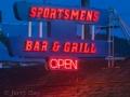 Sportsmens Bar & Grill neon at Bridgeport, CA