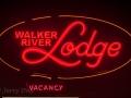 Walker River Lodge neon at Bridgeport, CA