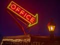 Walker River Lodge office neon at Bridgeport, CA