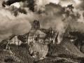 Chimney-Rock-Clouds-BW-1