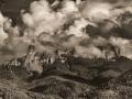 Chimney-Rock-Clouds-Pano-BW-1