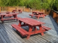 Clubhouse deck at Paradise Cove RV Resort