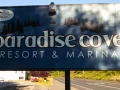 Paradise Cove RV Resort Sign