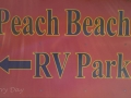 Peach Beach RV Park Sign