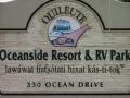 Quileute Oceanside Resort Sign