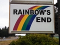 Rainbows End RV Park Sign