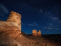 Capitol-Reef-formations-at-night