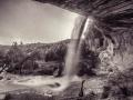 Ruin-n-Waterfall-BW-2